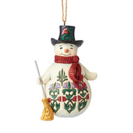 Jim Shore Winter Wonderland Snowman Hanging Ornament