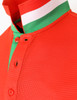 scarlet-collar detail