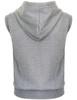 Casual zip hoodie sleeveless hoodie jacket-melange back