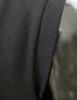 Casual zip hoodie sleeveless hoodie jacket-black sleeve detail