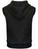 Casual zip hoodie sleeveless hoodie jacket-charcoal back