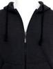 Casual zip hoodie sleeveless hoodie jacket-charcoal front detail
