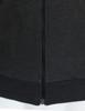 Casual zip hoodie sleeveless hoodie jacket-charcoal hem detail
