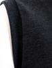 Casual zip hoodie sleeveless hoodie jacket-charcoal sleeve detail