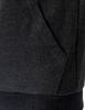 Casual zip hoodie sleeveless hoodie jacket-charcoal pocket detail