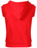 Casual zip hoodie sleeveless hoodie jacket-red back