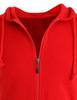 Casual zip hoodie sleeveless hoodie jacket-red front detail