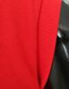 Casual zip hoodie sleeveless hoodie jacket-red sleeve detail