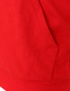 Casual zip hoodie sleeveless hoodie jacket-red pocket detail