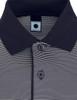 Short Sleeve Stretch Striped Polo Shirts-Unisex
