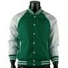 Varsity Quilted Lightweight Baseball Jacket_GREEN