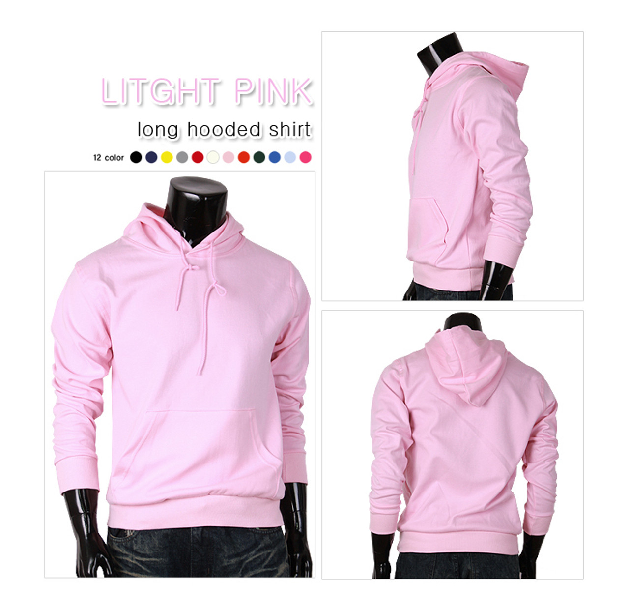 light-pink hoodie pullover for unisex cotton hoodie t-shirt men ...