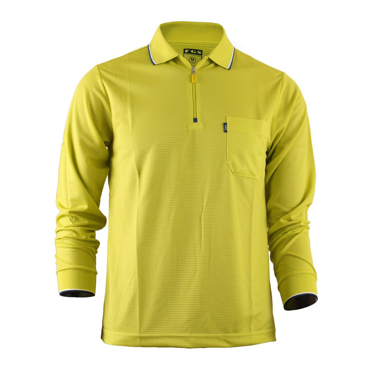 Men S Zip Polo Shirt Plain Zip Polo Shirt Long Sleeves Zip