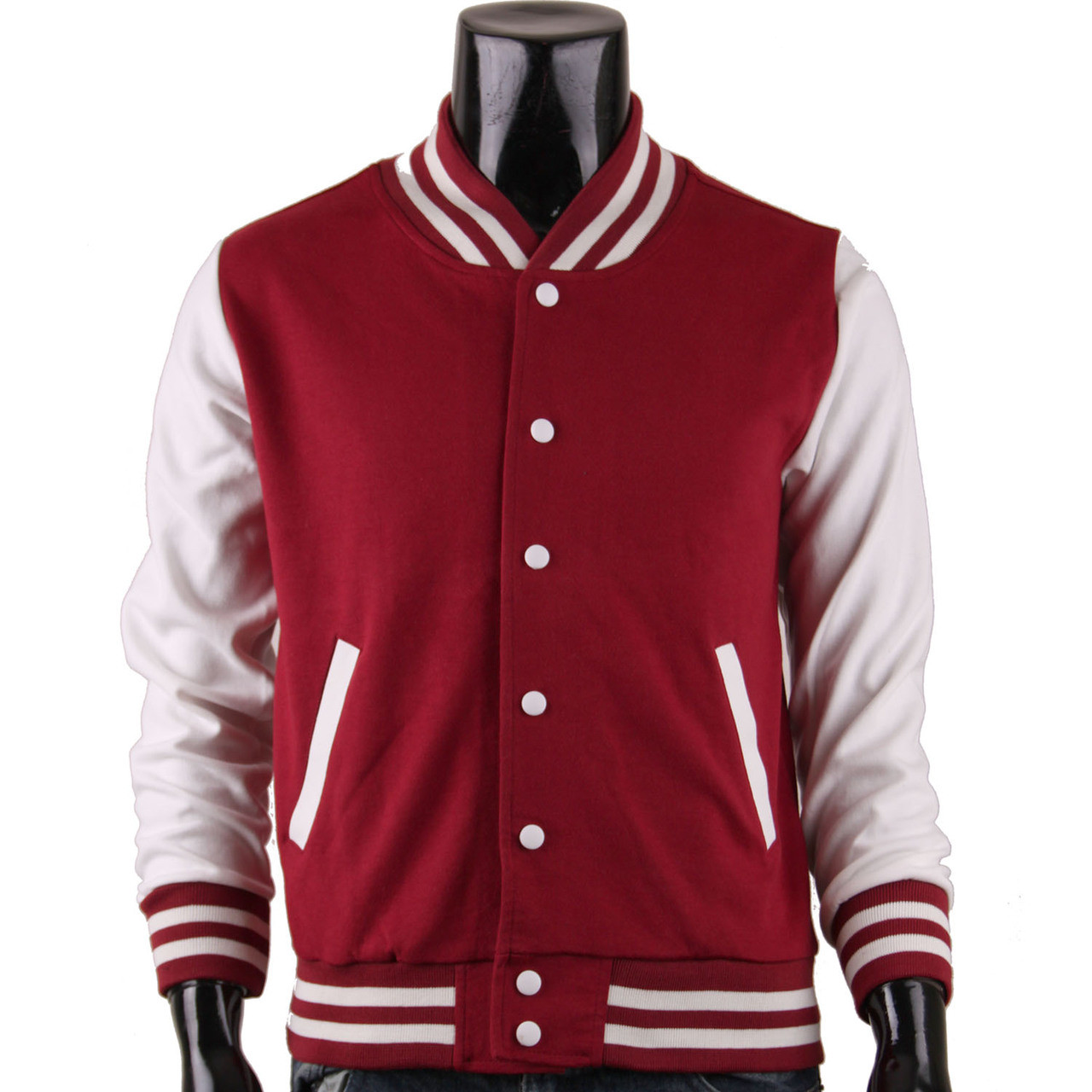 Men's Brown Baseball Jacket Varsity Jacket Letterman Jacket