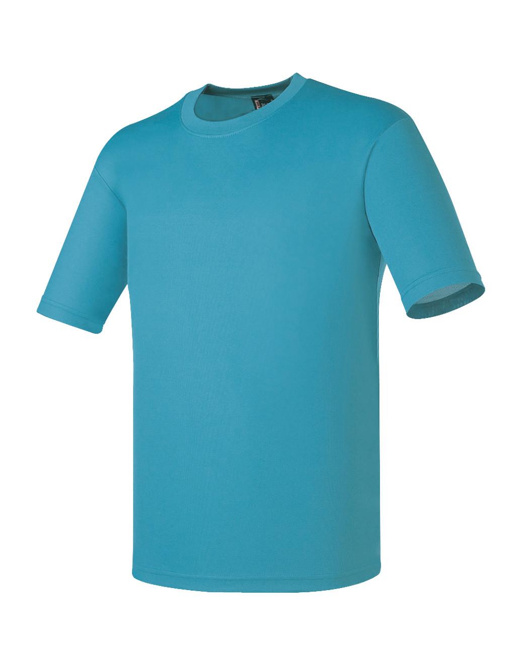 Bcpolo round t shirt aqua round t shirt dri fit t shirt for Dri fit material shirts