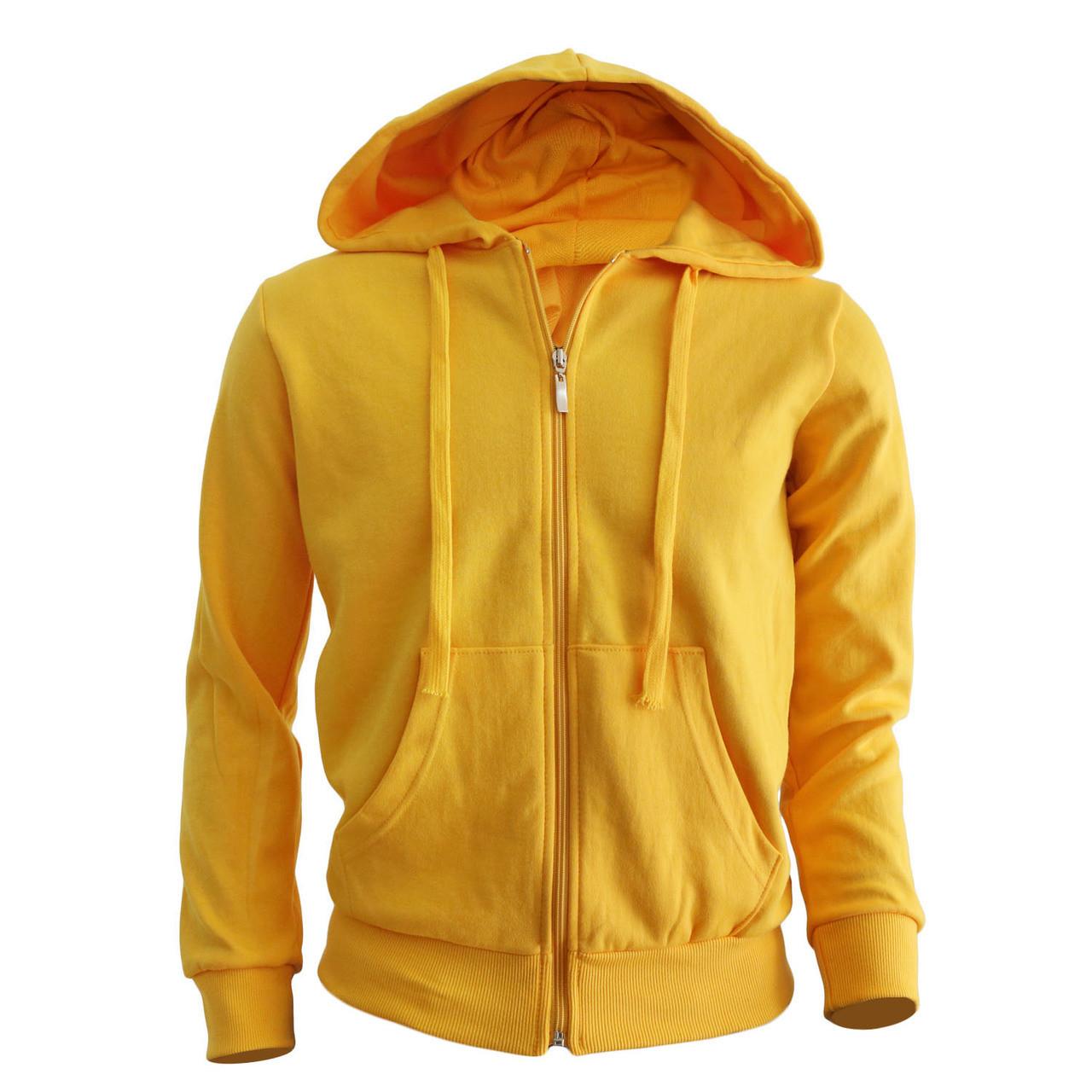Plain yellow hoodie