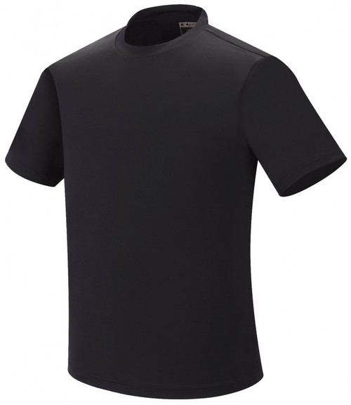Spandex round  t-shirt-black