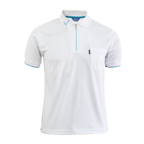 Coolon Stitch Polo t-shirt, short sleeve-white
