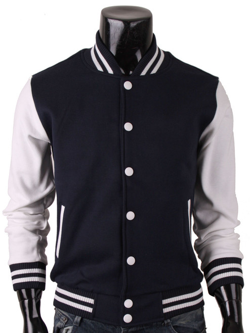 Bcpolo Baseball Jacket Cotton Varsity Jacket Sweatshirt Letterman ...