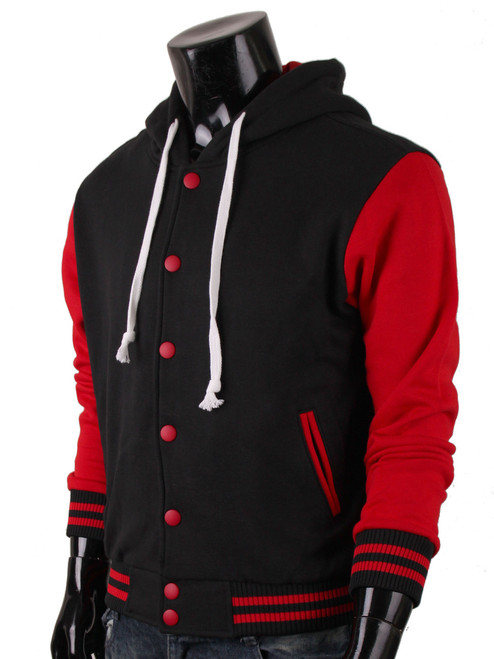 Men's Sweatshirt Jacket Hoodie Baseball Jacket Varsity Letterman ...