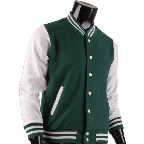 BCPOLO Men's Green Baseball Jacket Varsity Jacket Letterman Jacket