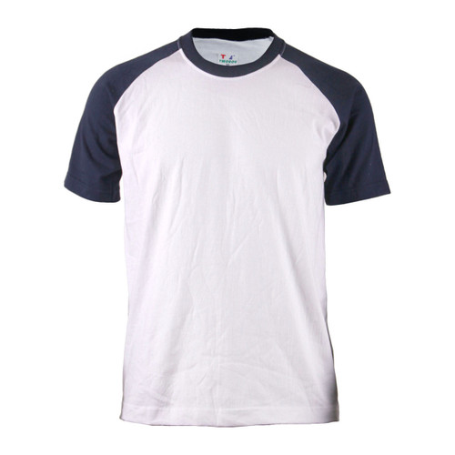 BCPOLO Casual  2 Tone White-Navy Raglan Crew Neck Short Sleeves Shirt