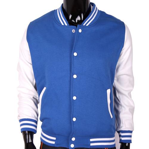 Bcpolo Baseball Jacket Blue Cotton Baseball Jacket Varsity Cotton Baseball Jacket for your style