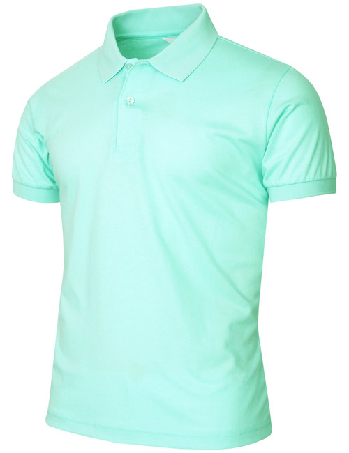 Unisex pique solid polo shirt for Mint color polo shirt