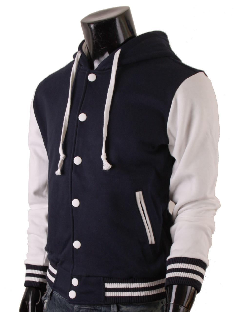 Letterman jacket with hoodie