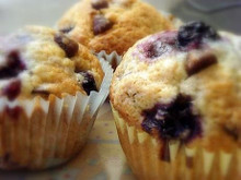 Blueberry/Chocolate Muffins (12 count)