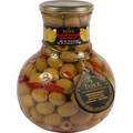 Tassos Greek Stuffed Olives with Peppers (366 gm/13 oz)