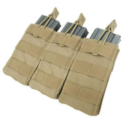 Condor MA27 Tripple Open Top M4/M16 Mag Pouch in Tan
