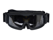 Lancer Tactical CA-221T Airsoft Safety Mask Vented - Black Frame / Clear Lens