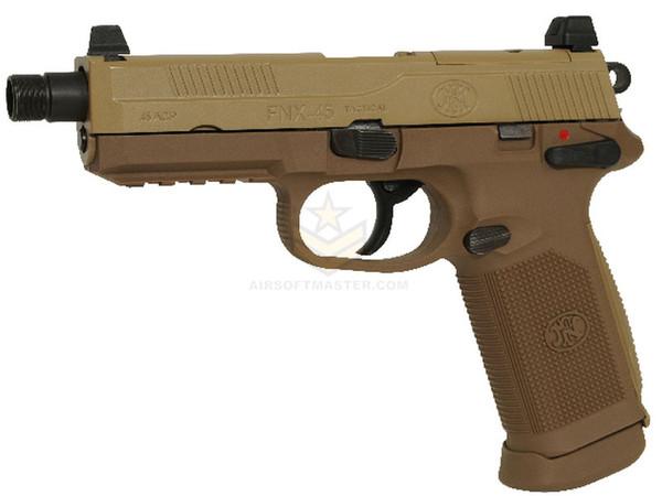 FN Herstal FNX-45 Tactical Gas Blowback Airsoft Pistol Tan