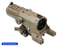 NcStar ECO 4x34 Scope w/ Green Laser and Nav LED Tan