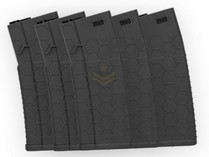 Hexmag Airsoft 120rd Midcap Magazine 5-Pack Black