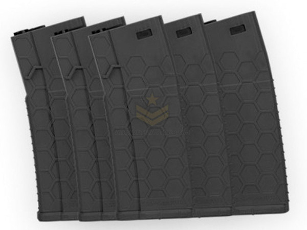 Hexmag Airsoft 120rd Midcap Magazine 5-Pack Black