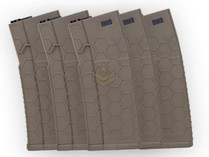Hexmag Airsoft 120rd Midcap Magazine 5-Pack FDE