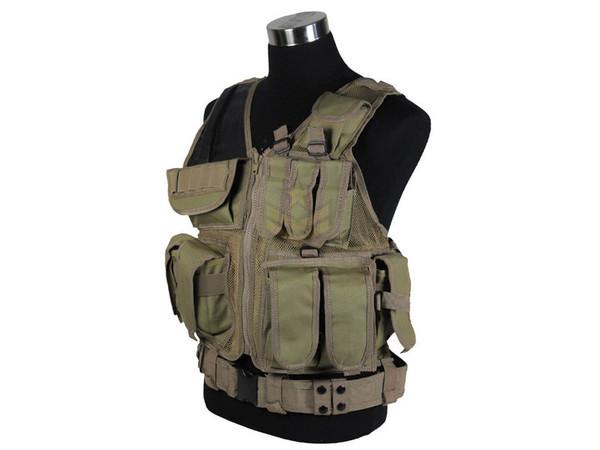 Defcon Tactical Crossdraw Vest Tan