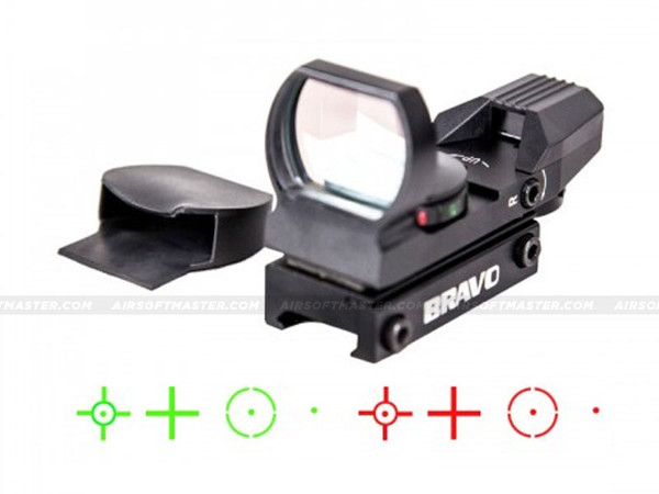 Bravo 4-Reticle Red/Green Dot Reflex Sight RDS4