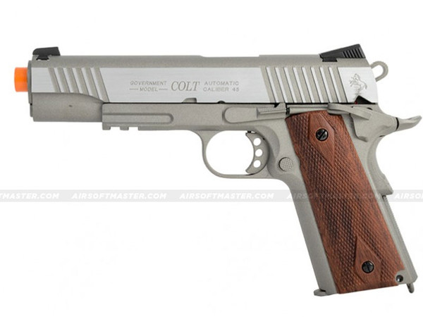 Colt 1911 Rail Government GBB CO2 Airsoft Pistol Silver