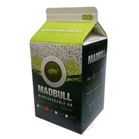 Madbull .25 Bio BB 3000rds Milk Carton PLA Biodegradable
