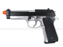 M9 Heavy Weight Srping Pistol 2-Tone Silver Black