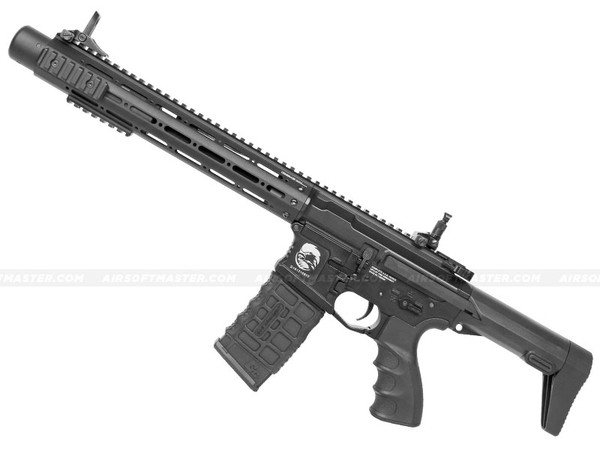 G&G GC16 PDW15 AR Full Metal Airsoft Gun Combo Black