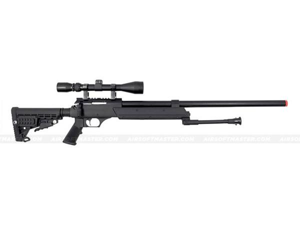 The WELL ASR SR-2 Moduler Single Bolt Action Spring Rifle w/ Scope & Bipod