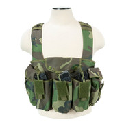 NcStar CVAKCR2921WC AK Chest Rig Woodland Camo