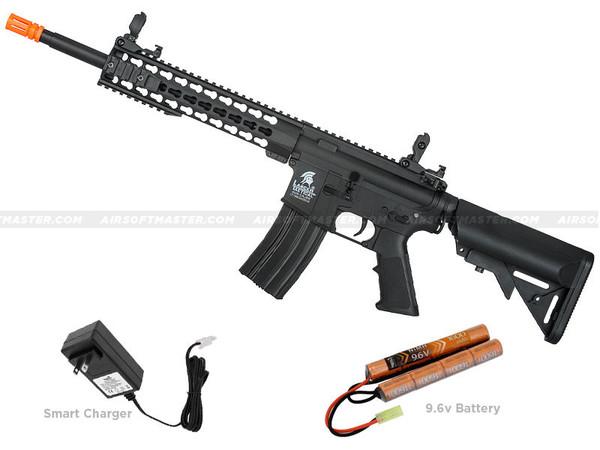 "Lancer Tactical LT-19B-G2 10"" M4 Keymod Gen 2 Airsoft Gun Black"