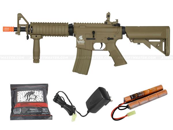 Lancer Tactical LT-02T-G2 MK18 MOD 0 M4 CQB Gen 2 Airsoft Gun Tan/Dark Earth