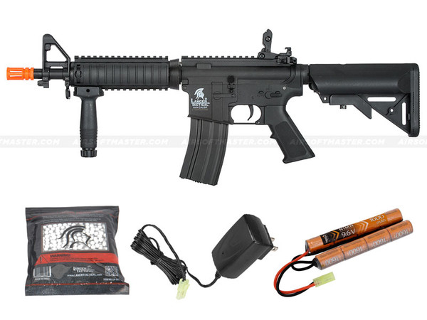 Lancer Tactical LT-02B-G2 MK18 MOD 0 M4 CQB Gen 2 Airsoft Gun Black