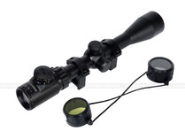 Lancer Tactical CA-406B 3-9x Red Green Illuminated Rifle Scope